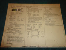 1969 CHEVROLET 396 ENGINE SUN TUNE-UP CHART / 2BBL CARB & 265 H.P.