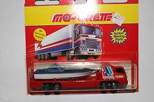 Majorette Diecast Boat Racing Team Transport Truck, on Card