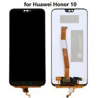 """ECRAN LCD ORIGINAL OEM VITRE TACTILE HUAWEI HONOR 10 NOIR 5.84"""" + LOGO"""