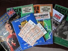 World Cup Final Football Programmes with Match Ticket