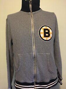 Vintage Boston Bruins Mitchell & Ness Sweater Jacket & Hockey Cards