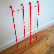 Two New 2 Strips 26 Clip Potato chip, Candy & Snack Red Hanging Display Racks
