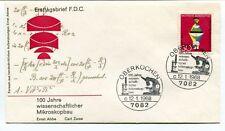 1968 Ersttagsbrief FDC 100 Jahre Wissenschaftlicher Mikroskopbau Oberkochen NASA