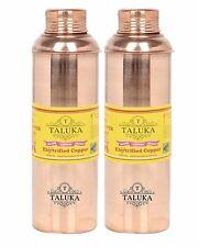Set Of 2 Pure Copper Water Bottle, 800 ML Bottle Ayurveda Good Health Benefits