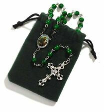 St. Jude Rosary with Green Felt Case (VS249) NEW