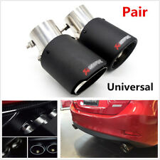 2x Universal Angle Adjustable Carbon Fiber Look Car Exhaust Pipe Muffler End Tip