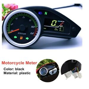 Motorcycle Instrument GY200 Color Screen LCD Digital Odometer Meter Universal