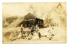 LONG VALLEY SCHOOL, CALIFORNIA 1900's RPPC Placer County? One Room Schoolhouse