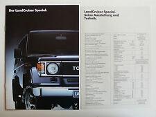 Prospekt Toyota Land Cruiser Special, 11.1986, 8 Seiten + Datenblatt