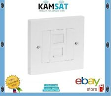 1 Way LAN Rj45 Ethernet Network Faceplate & Cat5e Module Outlet Kit Wall Plate