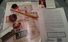 Stan Musial autographed lithograph, postcard and harmonica