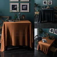 Jacquard Tablecloth Table Cloth Cover Rectangle Lace Wedding Party Kitchen Decor