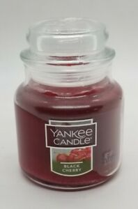 Yankee Candle - Small Jar 3.7oz - BLACK CHERRY SCENT w/LID - NEW TAGS