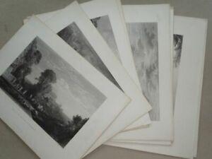 Sammlung Ansichten Landschaft n. William Turner Cousen 10 Stahlstiche 1857