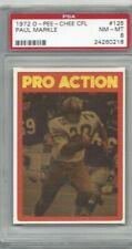 1972 OPC Canadian football card #125 Paul Markle, Winnipeg Bombers graded PSA 8
