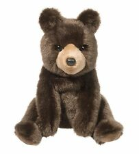 "Douglas Cal BROWN BEAR 10"" Plush Sitting Stuffed Animal Teddy Cuddle Toy NEW"