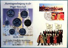 PhilaGlobe FRV 047 Numisbrief Prager Botschaft Deutschland 30.09.2014