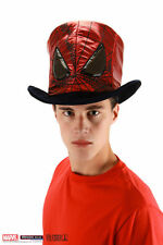 Marvel The Avengers Red Shiny Lame SPIDERMAN MAD HATTER Movie Costume Top Hat