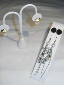 Vintage Lot of Three (3) pairs of Earrings: 1 Dangle, 1 Stud, 1 Napier Stud