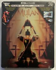 NEW DISNEY MULAN ANIMATED 4K ULTRA HD BLU RAY 2DISC.BESTBUY EXCLUSIVE STEELBOOK