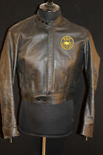 GERMAN HARRO KOMBI  BLACK LEATHER CYCLE JACKET SZ SMALL