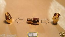 SMA Male To SMA Female small straight extension jumper RF Connector Adapter USA