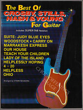 THE BEST OF CROSBY, STILLS, NASH & YOUNG for Guitar-Chords,Vocals&Lyrics Notes