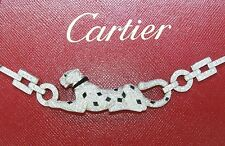 CARTIER PANTHER NECKLACE 18kWG DIAMOND EMERALD ONYX ~ FROM HIGH END COLLECTION