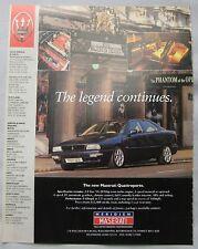1996 Maserati Quattroporte Original advert
