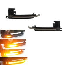 Fit AUDI A6 C6 A8 D3 Q3 Mirror Dynamic Lamp LED Turn Signal Indicator Light Pair
