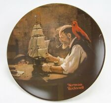 Knowles-The Ship Builder -Norman Rockwell Heritage Coll.-Nle-1980 plate-Usa-New!