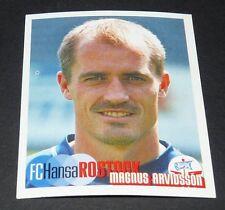 429 ARVIDSSON SUEDE HANSA ROSTOCK PANINI FUSSBALL 2002-2003 BUNDESLIGA FOOTBALL
