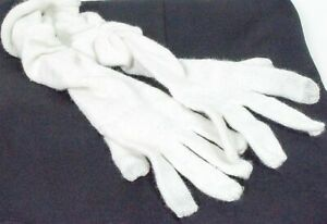 INC International Super Soft Winter Ladies Long Gloves Rouch Ivory O/S MSRP $26