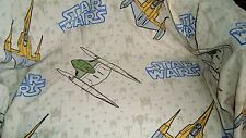 STAR WARS Twin Size FITTED Sheet Childs Bedding Fabric Material Sheets