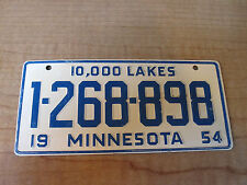 1954 MINNESOTA Miniature Pedal Car Bike Bicycle License Plate 10,000 Lakes