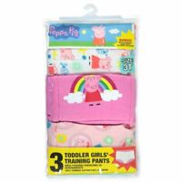 Peppa Pig Toddler Girls' 3pk Training Pants Size 3T White Pink Multi color