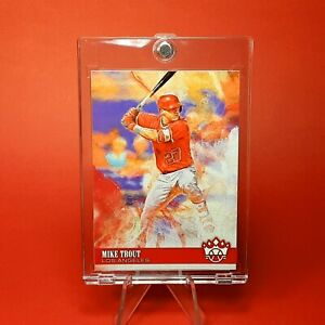 Mike Trout DIAMOND KINGS RED JERSEY INSERT CARD - MINT - W/ CASE