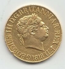 More details for 1818 sovereign king george iii full gold sovereign coin
