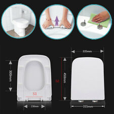QUICK RELEASE SOFT CLOSE TOILET SEAT WHITE SQUARE BATHROOM HEAVY DUTY LINN