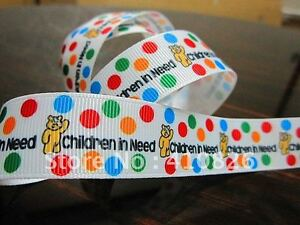 """Children in Need Ribbon 1"""" (25mm) Wide 1m is only £1.49 NEW UK SELLER FREE P&P"""