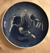 "Flawless Stunning Denmark Royal Copenhagen Plate July 1971 ""Christmas At Home"""