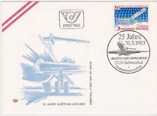 FDC 1983 - Mi 1734 , 25 Jahre Austrian Airlines , SST 2320 Schwechat