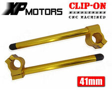 Gold 41mm Race Clipons CNC Clip On Handlebars For Honda CBR600F2 F3 1991-1998