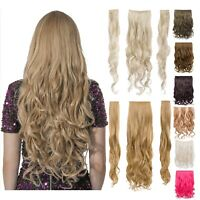 3 Three Piece Strip Clip in Curly Wavy Hair Extension in 20'' Heat Resistant