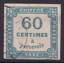 20c Ceres 1849 N° 9 Taxe 60c Bleu