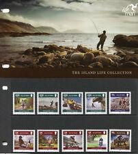Isle of Man IOM 2010 MNH Island Life 10v Set Pres Pack Tourism Horses Stamps