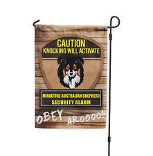 Knocking activate Miniature Australian Shepherd Dog Yard Banner Garden Flag