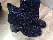 Primark Sequence Embroidered Boots Shoes Size Uk 3 EUR 36 BNWT!