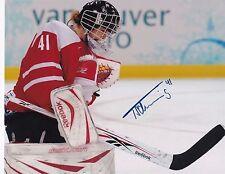 "Florence Schelling Switzerland Women's Hockey Autographed 8"" x 10"" Photo W/COA"
