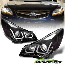 [U Type+LED Signal]For 2010-2014 Subaru Outback/Legacy BLK Projector Headlights